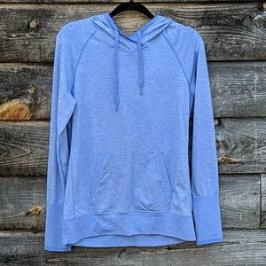 Lucy Blue Space Dye Tech Pullover Hoodie